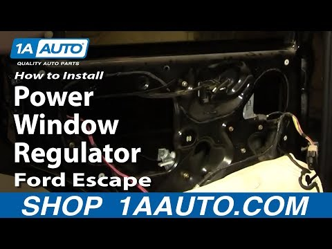 How To Install Replace Rear Power Window Regulator Ford Escape Mercury Mariner 01-07 1AAuto.com
