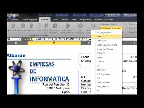 Programación en Excel - Facturas avanzadas parte1