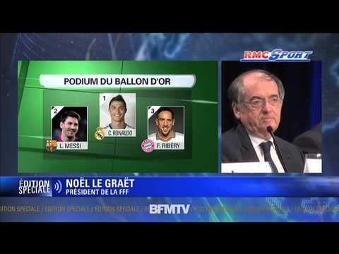 """Ballon d'Or / Le Graët : """"Je suis déçu pour Ribéry"""" - 13/01"""
