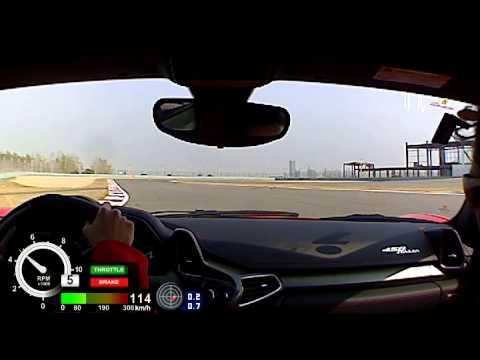 Corso Pilota Sport on Shanghai F1 track