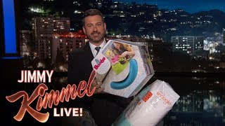 Jimmy Kimmel Calls Out Baby Products with Terrible Names