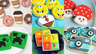 AMAZING DECORATED COOKIES, SPONGEBOB, DONUTS AND COFFEE, MINE CRAFT, CINCO DE MAYO, HANIELA'S