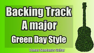 Green Day Style Backing Track in A major - Neo Punk Rock '00s Guitar Backtrack - Chords Scale BPM