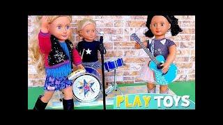Búp bê cô gái Mỹ ăn mặc quần áo cho ban nhạc chơi! 🎀