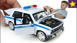 Полицейская машинка Жигули из Китая Игорюша ловит лихача на ауди Diecast Cars Toys