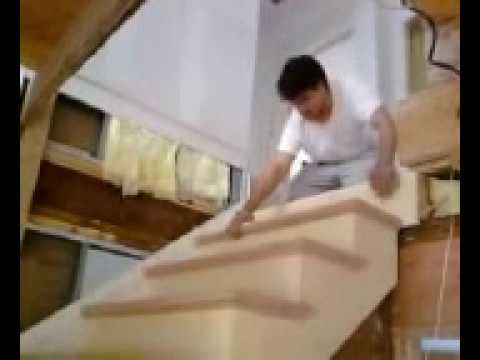 Como hacer escalera de madera 7 instalacion youtube for Construir escalera de madera