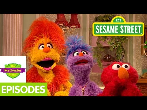 Furchester Hotel: Elmo Admires A Sculpture At The Hotel video