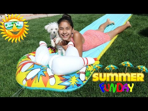 Summer Fun!! Water Slide |B2cutecupcakes