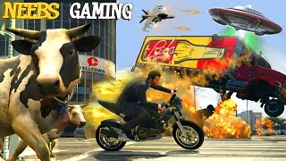 BEST OF GTA 5 - FUNNY MOMENTS 2015 - MEGA RAMPS - TSUNAMI MOD - UFO MOD -  Gameplay Video