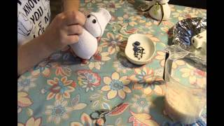 Pupazzo di neve con calzino tutorial.Christmas Craft Projects sock snowman diy.