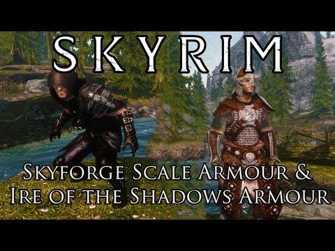 Skyrim Mods: Skyforge Scale Armour & Ire of the Shadows Armour