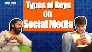 Types of Boys On Social Media | Sadak Chhap