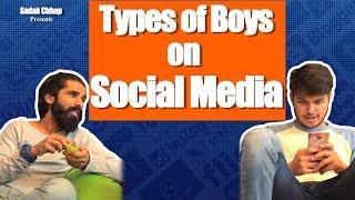 Types of Boys On Social Media | Sadak Chhap