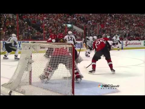 James Neal goal 1-1 May 22 2013 Pittsburgh Penguins vs Ottawa Senators NHL Hockey