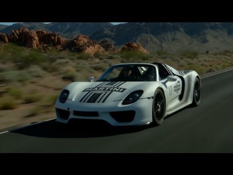 Прототип Porsche 918 Spyder. Испытания в пустыне