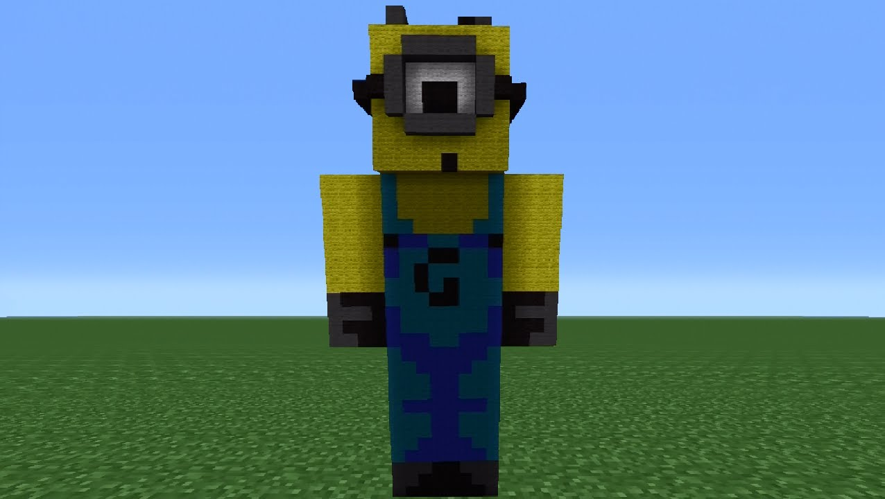 Minecraft 360 How To Make A Despicable Me Minion Statue
