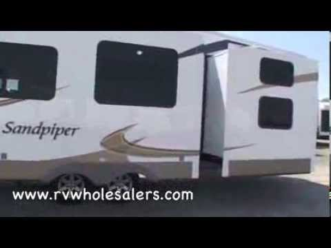 2011 Sandpiper 355QBQ Fifth Wheel Camper at RVWholesalers.com 025012 - Olive