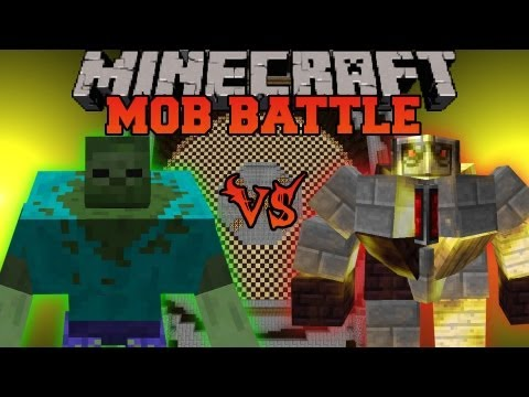 Mutant Zombie Vs. BIG Golem - Minecraft Mob Battles - Mo' Creatures and Mutant Creatures Mods
