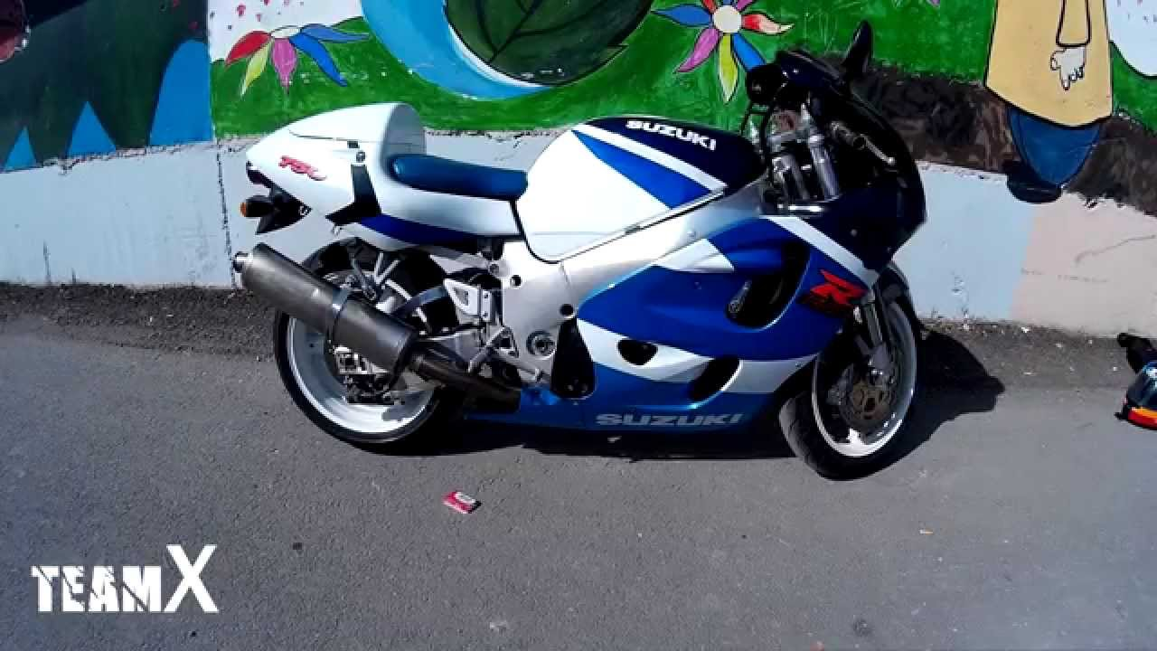 99 suzuki gsxr 750 srad full akrapovic exhaust sound youtube. Black Bedroom Furniture Sets. Home Design Ideas