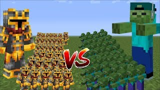 Minecraft 1000 ZOMBIES VS 1000 MC NAVEED BATTLE / WAR BATTLES WITH MINI SOLDIERS!! Minecraft