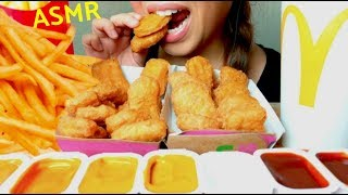 *No Talking* ASMR McDonald's 20 Chicken Nuggets & French Fries 먹방 Eating Sounds
