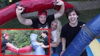 BOUNCE JOUSTING W/ BEST FRIEND & GIRLFRIEND