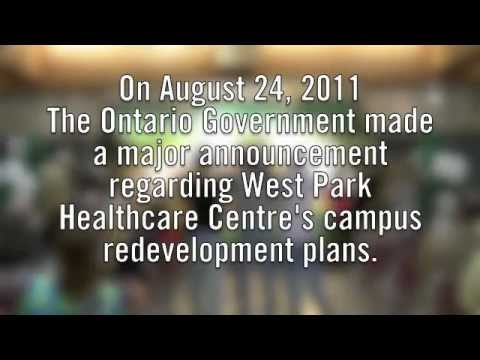 West Park Healthcare Centre Campus Redevelopment Funding Announcement