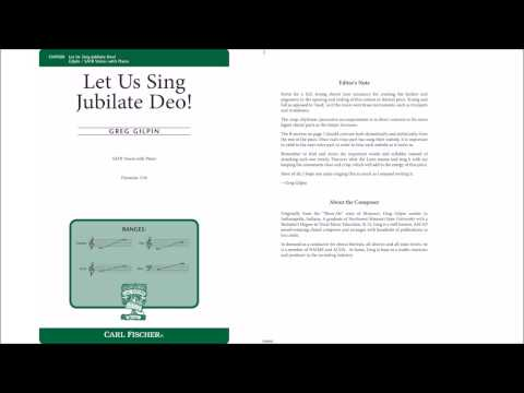 Let Us Sing Jubilate Deo! (CM9500) by Greg Gilpin