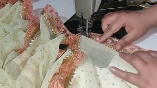 Designer Boutique Style Dupatta Making at home / दुपट्टे की लंबाई बढ़ाने की Easy Trick