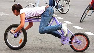 Top 15 VIDEOS Of Weirdest & Strangest Bicycles In The World