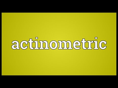 Header of actinometric