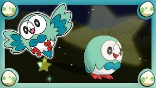 (LIVE) Shiny Rowlet in Pokemon Moon after ONLY 28 Eggs!