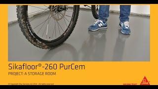 Professional application of Sikafloor-260 PurCem Glossy in a storage room (en)