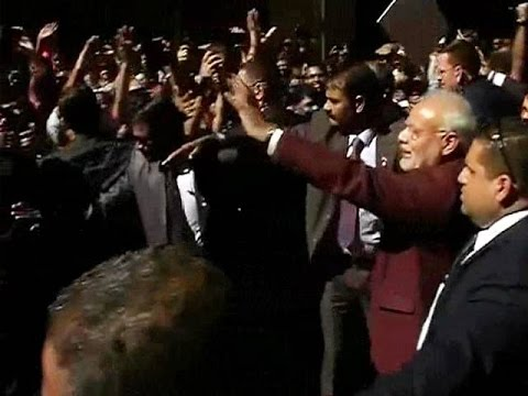 PM Modi arrives in New York to a rock-star welcome
