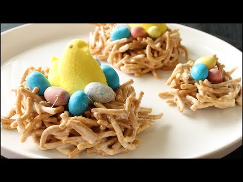 Peeps Bird Nest Treats - Marshmallow Chow Mein Easter Treat Recipe video
