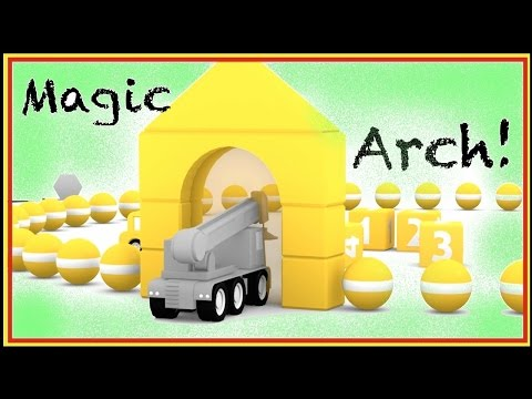 SMART CARS Learn Colors CGI Cartoons ⭐︎ MAGIC ARCH ⭐︎ 3D BOWLING Demo - Numbers for Children