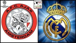 ⚽ AJAX VS REAL MADRID EN VIVO ⚽ CHAMPIONS LEAGUE | RESULTADO FINAL 1 - 2