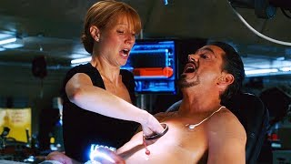 "Changing The Arc Reactor ""Is It Safe?"" Scene - Iron Man (2008) Movie CLIP HD"