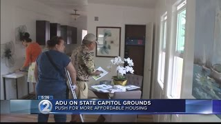 ADU built on State Capitol lawn to highlight statewide need for affordable housing