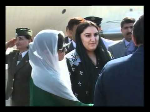 President Zardari arrival in Dushanbe on Sep 01, 2011