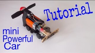How to Make a Car - Mini Electric Car - Tutorial - Very Simple