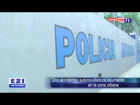 DOS ACCIDENTES AUTOMOVILISTICOS OCURRIERON EN LA ZONA URBANA