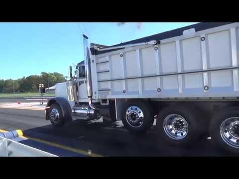 Triaxle dump drag racing quick island dragway super show rigs.com 9-27