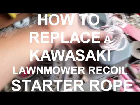 HOW TO Replace a Broken Lawnmower Starter Cord / Pull Chord / Starter rope / String thingy thing