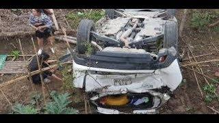 Tai nạn giao thông ở Lào Cai: Nữ tài xế lùi xe ô tô bay lan can cầu lao xuống sông xem như phim