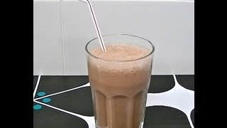 Batido de chocolate super facil - Easy chocolate smoothie - DIY