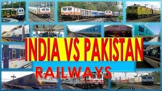 India vs Pakistan Latest comparison on Railways (2016 - 17)