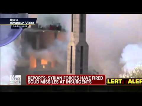 Syria : Syrian Military fire Scud Ballistic Missiles at al qaeda Rebel Forces (Dec 12, 2012)