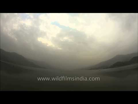 Clouds passing over the Phewa Lake : Time Lapse
