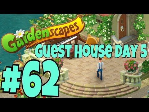 GARDENSCAPES NEW ACRES #62 Gameplay Story Playthrough   Area 10 New Guest House Area Day 5